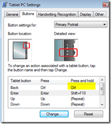 Tablet PC Ctrl Selects