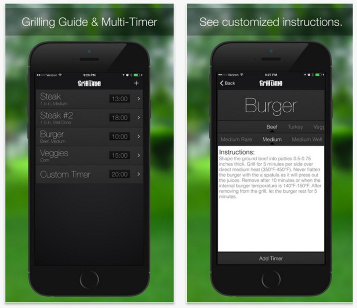 Best Grilling apps iPhone Android - 3
