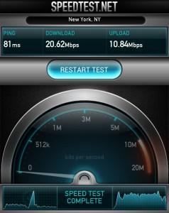 Galaxy Nexus 4G LTE Speedtest.net High Score