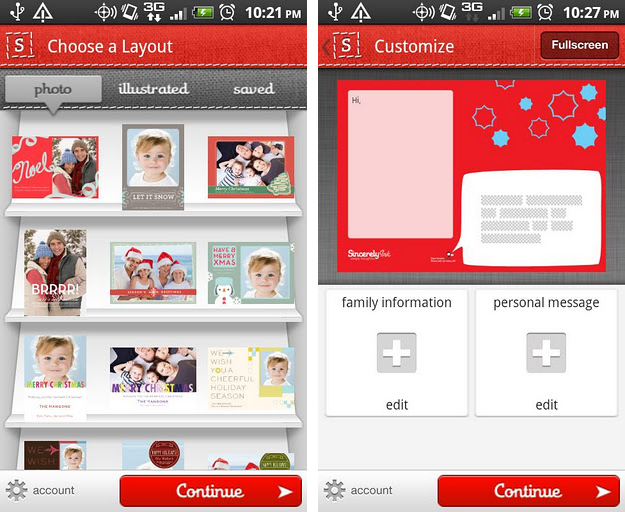 Holiday Cards by Sincerely Ink app for android