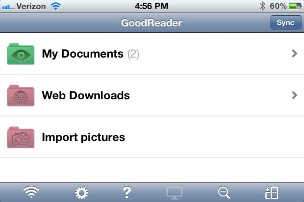 Google Drive iPhone App - web downloads