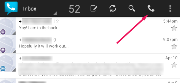 Google Voice Click to Call icon