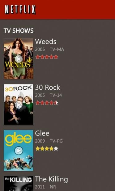Netflix for Windows Phone Gets a Major Update