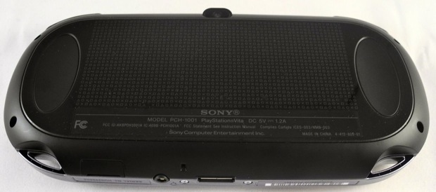 PSP Vita has a large touch panel on the rear