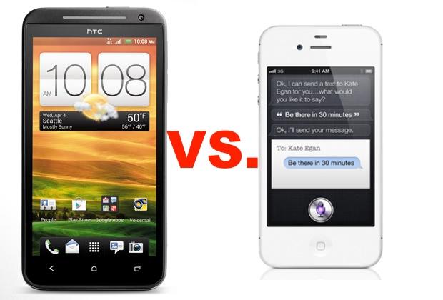 HTC Evo 4G LTE vs. iPhone 4S