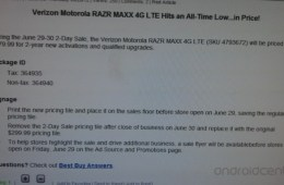 Best Buy RAZR MAXX sale