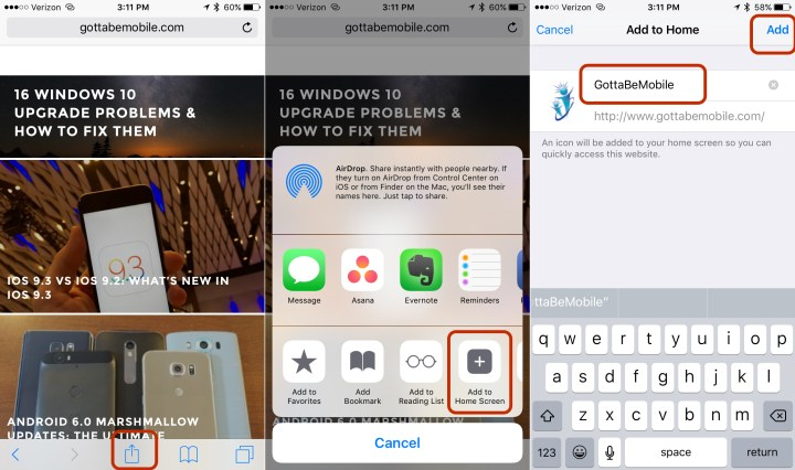 Use this guide to make a website shortcut on your iPhone homescreen.