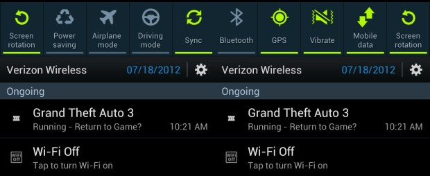 Galaxy S III notifications