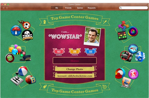 Game Center Mountain Lion
