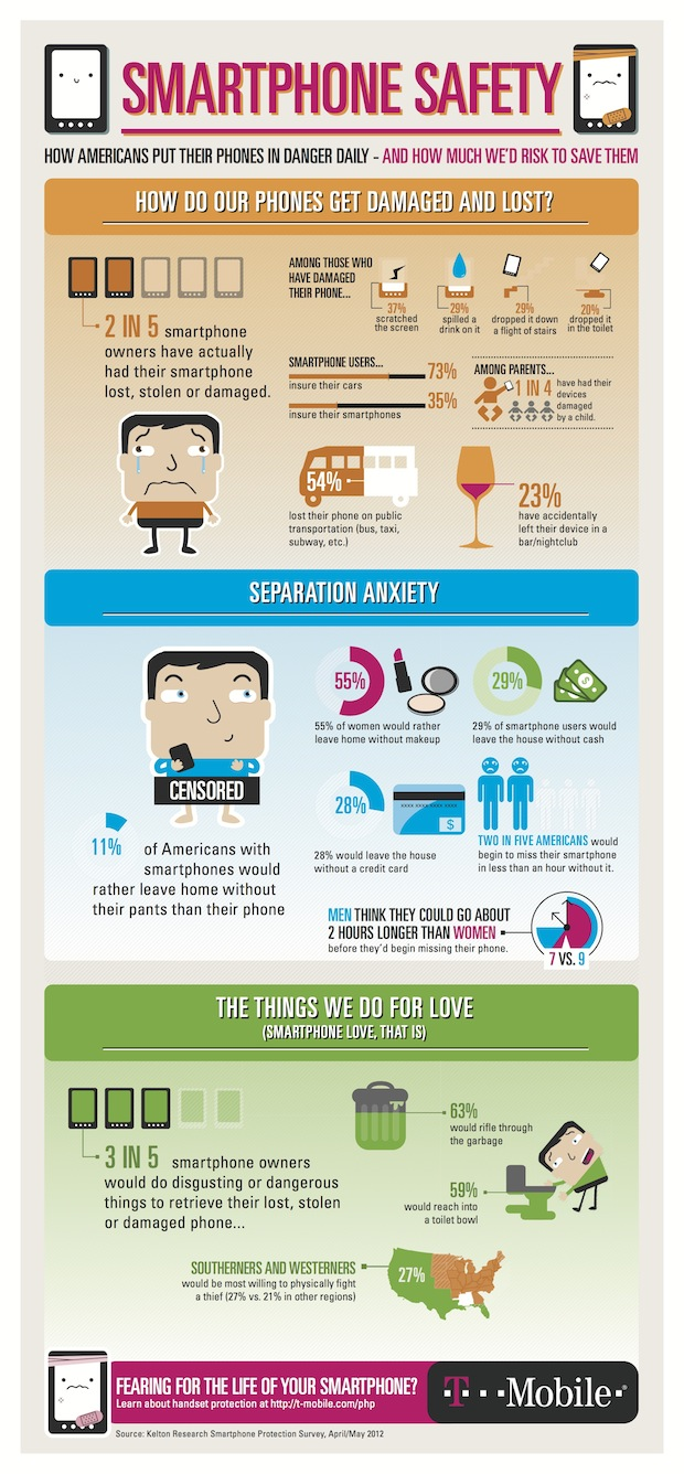 Smartphone Destruction Infographic