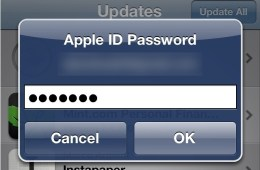 iOS password
