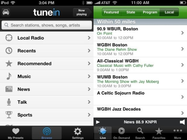 iPhone radio apps