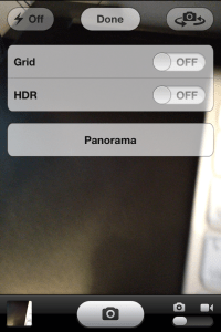 How to iPhone panorama
