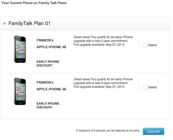 iPhone 5 Early Upgrade Deal 1