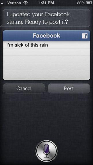 Facebook Siri iOS 6