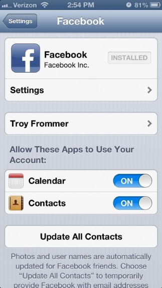 Facebook for iOS 6