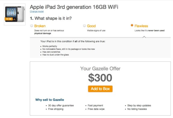 gazelle ipad offer