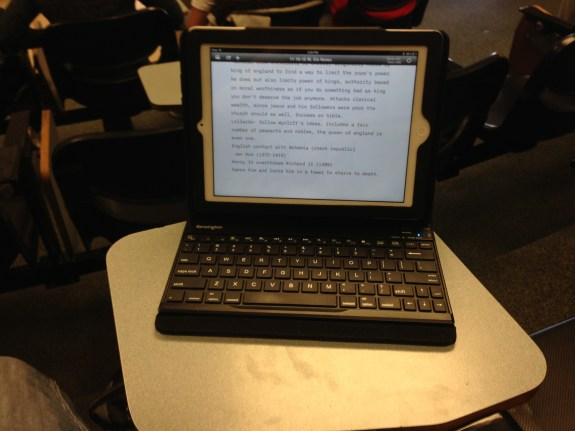 iPad taking Notes