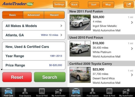 autotrader for iPhone