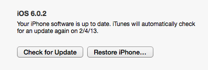 Check for iOS 6.1 update