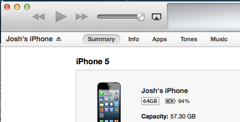 iPhone 5 update to iOS 6.1