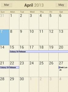 Galaxy S4 Release Date