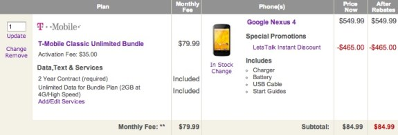 Nexus 4 Deal