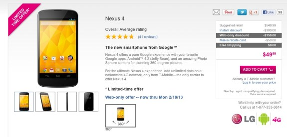 Nexus 4 deals