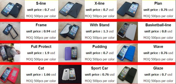 Samsung Galaxy S4 cases from china are cheap to produce, with a potential for high profits.