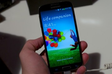 The Galaxy S4 sports a smaller display with higher resolution.
