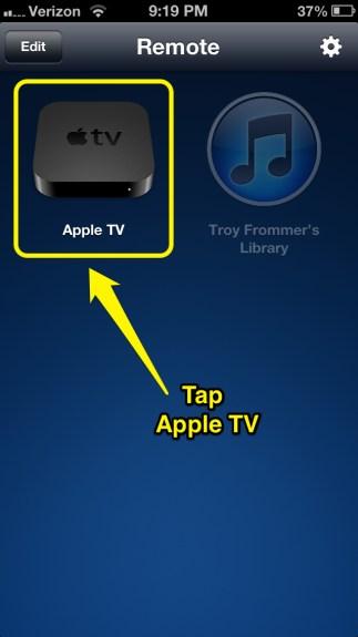 Tap Apple TV
