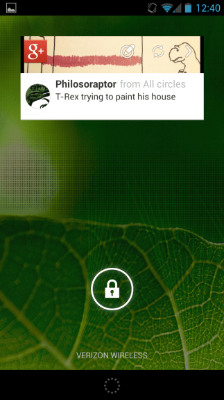 Lock screen widgets are a quick way to see information.
