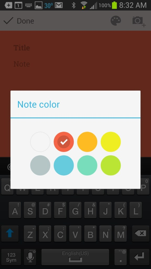 google keep background chooser