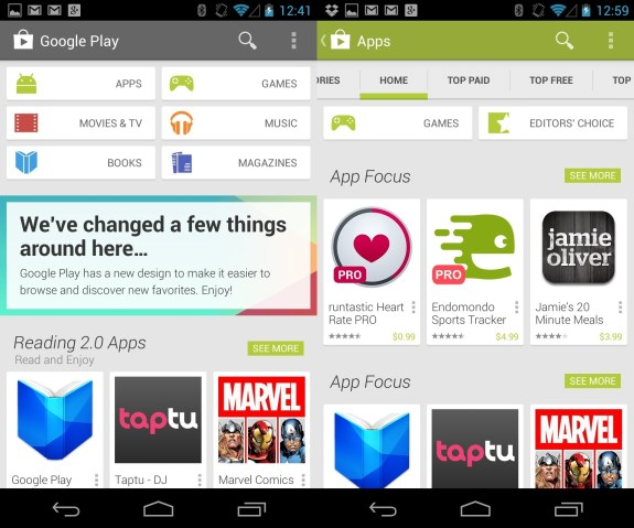 Download the Google Play Store 4.0 APK file to get the new Google Play Store without a wait.