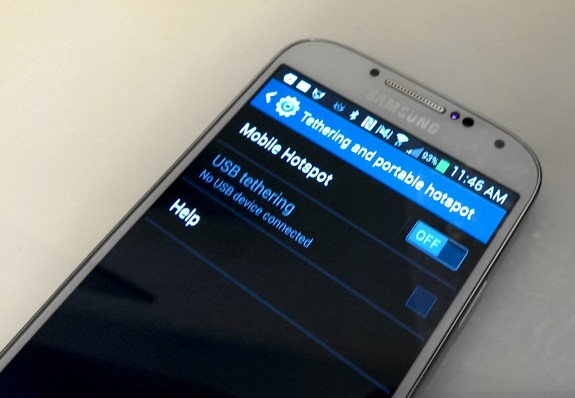 The Samsung Galaxy S4 can act as a personal hotspot to connect up to 10 devices.