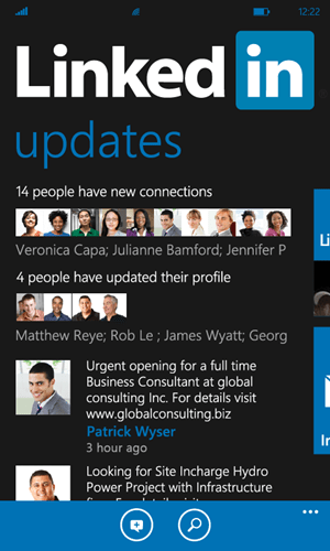 LinkedIn for Windows Phone 1.5