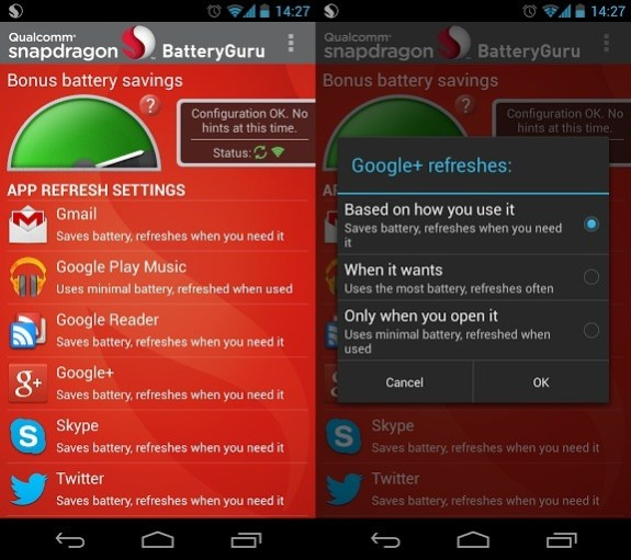Get better Samsung Galaxy S4 and HTC One battery life with BatteryGuru.