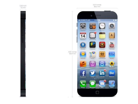 Concept iPhone 6 dimensions.