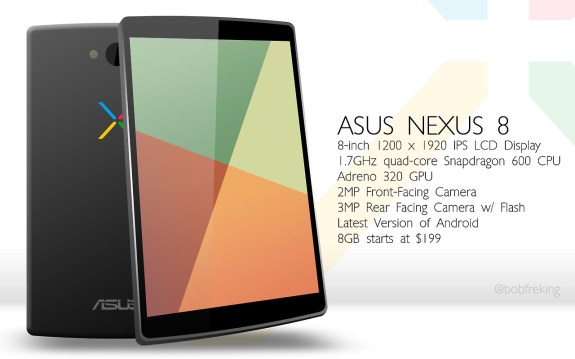 A Nexus 8 concept from Bob Freking.