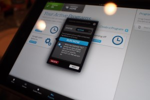 Tablet UI on iPad mini; can work with Android or iOS.