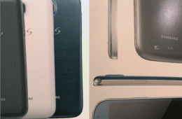 A closer look at the blue Samsung Galaxy S4.