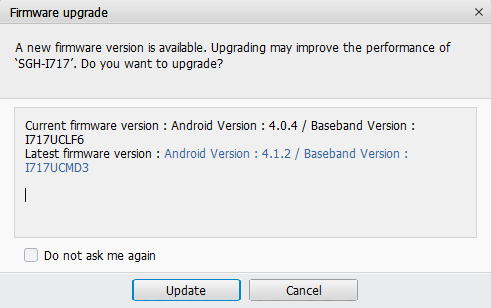 Owners should try to update through Samsung Kies, not OTA.
