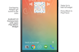 Android 5.0 Music Widget