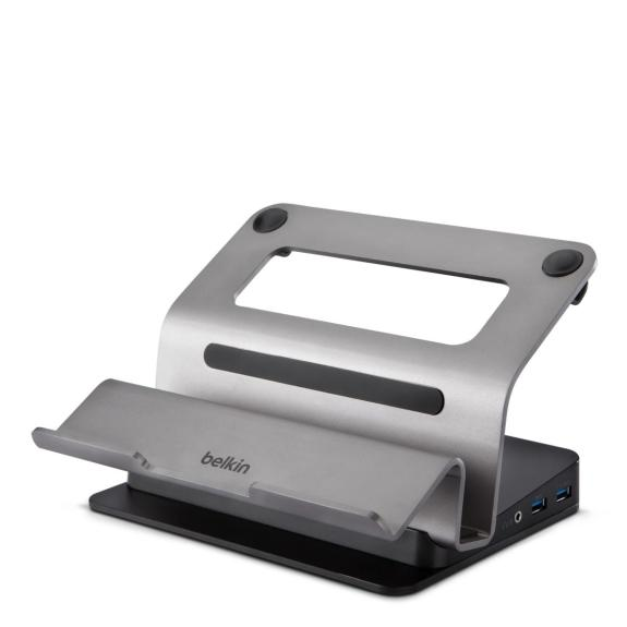 The Belkin Dual Video Docking Stand for Ultrabooks