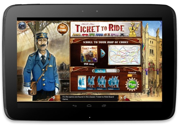 Ticket to Ride for Android arrives on the Google Play Store.