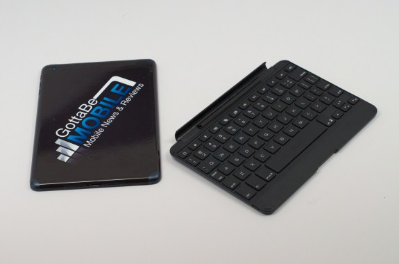 The ZAGGKeys Cover iPad mini keyboard is slim and offers backlit keys.