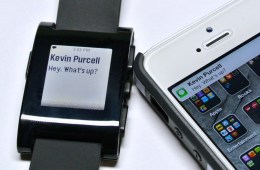 iOS 7 offers access to the Notification Center to smartwatches like the Pebble, and possibly the rumored iWatch in the future.