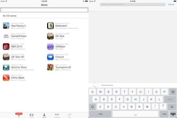 More iOS 7 for iPad screenshots.