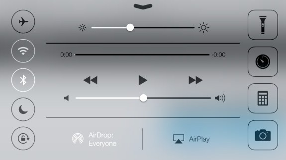 Control Center is another area IOS 7 is optimized for landscape.