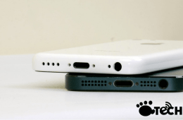 The alleged budget iPhone compared to an iPhone 5.The alleged budget iPhone compared to an iPhone 5.